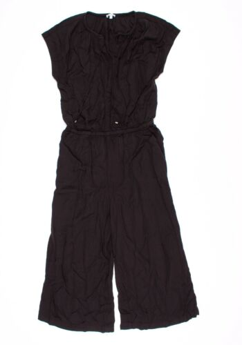 Splendid Black Drawstring Wide Leg Crop Jumpsuit Size M Medium