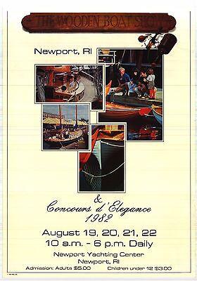 BOAT POSTER~The Wooden Boat Show 1982 Vintage Newport, RI Original Vintage Print