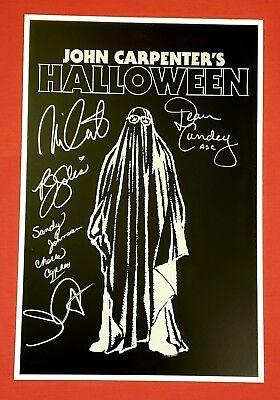 Halloween 6 Movie Poster (Halloween Movie Print Poster Art SIGNED x6 John Carpenter Nick Castle H40)