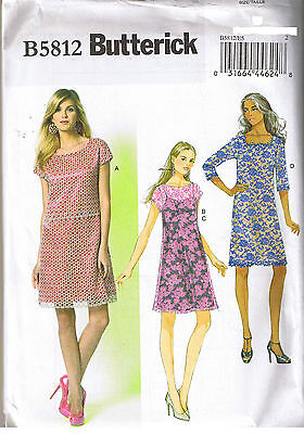 Easy Misses Lace Dress And Slip Butterick 5812 Sewing Pattern Size 6 8 10 12 14
