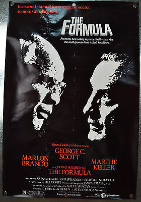 The Formula Original SS One Sheet Movie Poster 1980 27 x 40 Rolled