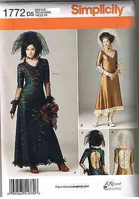 Victorian Era Style Steampunk Wedding Dress Gown Sewing Pattern Size 4 6 8 10 12