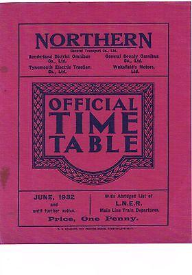 Northern General Transport Co Ltd: Official Bus Timetable booklet: June 1932