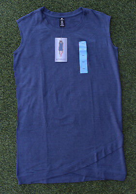 Active Life Women's Comfy Dress Tunic Lounge Travel in Style Heather Sailor Blue