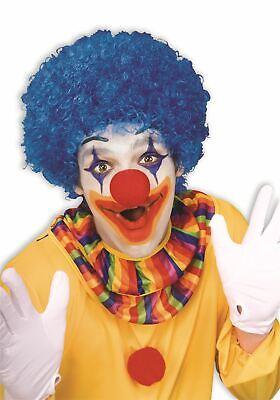 blue Color Team Spirit Clown WIG adult womens mens Halloween costume accessory - Blue Clown Wig