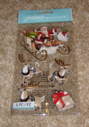 EK Success Jolees Dimensional Embellishment ~ Santa & Sleigh