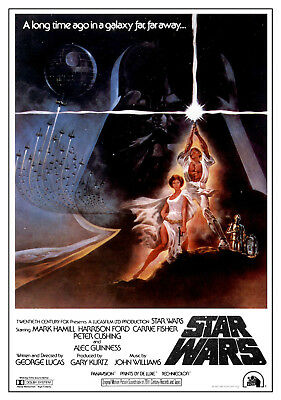 STAR WARS MOVIE POSTERS - Classic Movie Artwork (Size 24x36 inches)