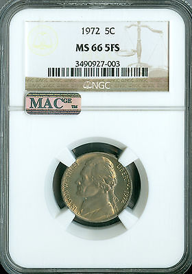 Click now to see the BUY IT NOW Price! 1972 JEFFERSON NICKEL NGC MAC MS 66 FS PQ 2ND FINEST GRADE .