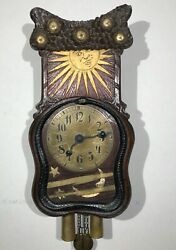 19th Century Black Forest Hand Carved Schwarzwald Weight Driven Wall Clock