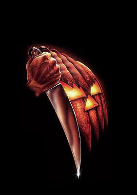 Michael Myers Halloween Pumpkin Knife  8x10 Picture Celebrity Print (Michael Myers Pumpkin)