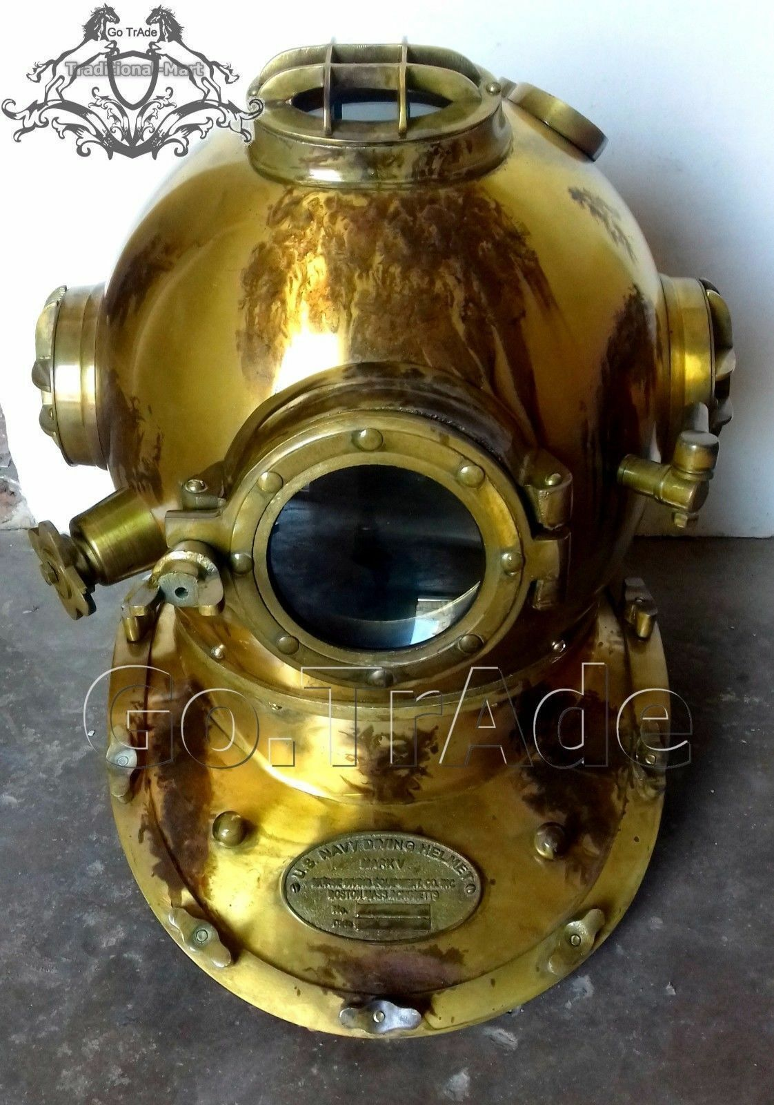 Antique Royal Scuba Diving US Navy Mark V Deep Sca Vintage Divers Helmet Replica