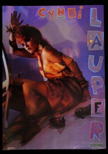 "CYNDI LAUPER poster 1984  22"" x 31"" ORIGINAL Funky Enterprises #1509"