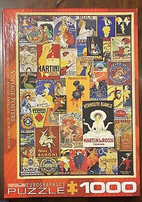 Eurographics Puzzle 1000 Pieces Vintage Posters European Advertising Collage