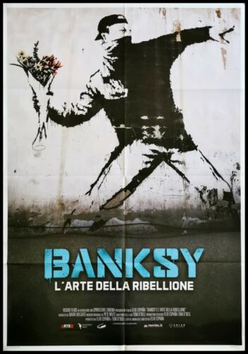 "BANKSY ART OF REBELLION Original Movie Poster 39x55"" 2Sh Italian STREET ARTIST"