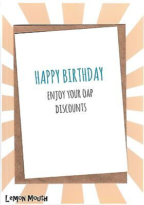 Discount Greeting Cards (Humourous Birthday Card / Greeting Card / Funny / Banter /Laugh - Oap)