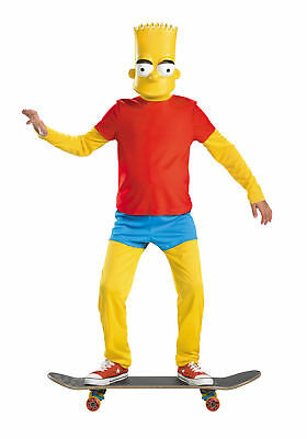 Simpsons Halloween Characters (Bart Simpson Costume Deluxe Boys The Simpsons Character Halloween Disguise)