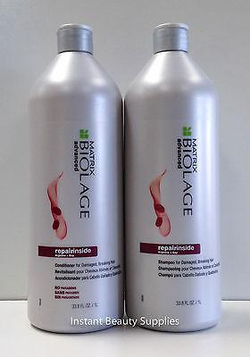 Matrix Biolage Repair Inside Shampoo and Conditioner Liter 33.8 Duo Damaged Hair