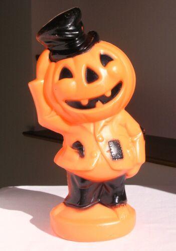 Vintage Halloween Scarecrow JOL Pumpkin Blowmold Light Decoration Empire