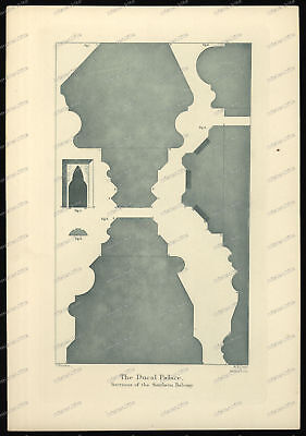 Druck-Stahlstich-Engraving-John-Ruskin-R.P.Cuff-Allen&-The Ducal Palace-84