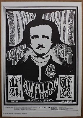 Daily Flash Country Joe and the Fish Avalon Ballroom Vintage Original Poster 66