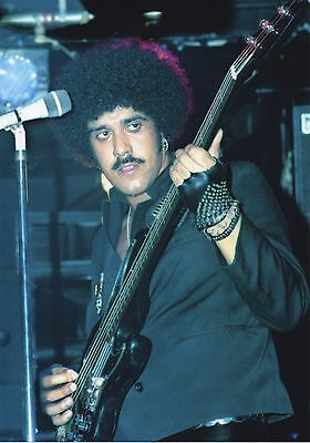 THIN LIZZY PHIL LYNOTT PHOTO MARQUEE 1984 UNRELEASED UNIQUE IMAGE HUGE 12 INCH