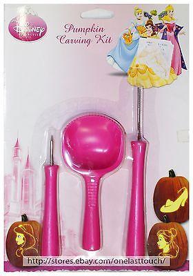 PAPER MAGIC GROUP* 4pc DISNEY PRINCESS Patterns PUMPKIN CARVING KIT Halloween](Princess Pumpkin Carving)