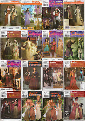 CHOICE: SIMPLICITY Costume Patterns: Misses' Men's Renaissance Halloween (Halloween Costume Sewing Patterns)
