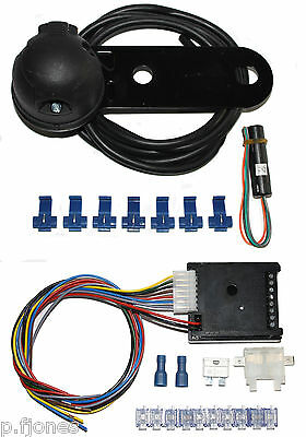 Universal 7 Pin 12n Single Towing Electrics / Towbar Wiring + 7 Way Bypass Relay