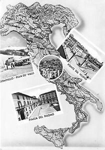 Cartolina-Postcard-Rieti-saluti-da-Centro-Italia-Stivale-1954