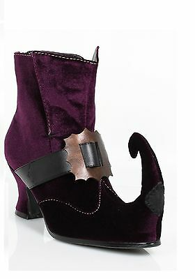 Purple Witch Jester Disney Villain Halloween Costume Shoes Boots size 6 7 8 9 10 - Disney Witch Costume