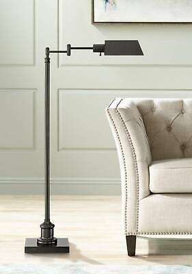 Modern Pharmacy Floor Lamp Dark Bronze Adjustable Head for Living Room Reading