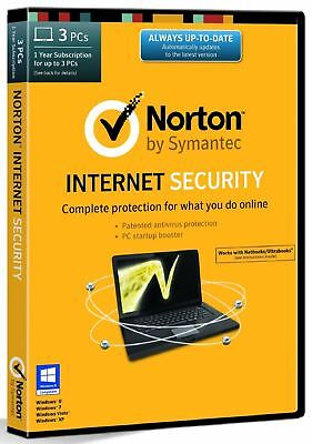 New Other Norton Internet Security- 3 Computers - 1 Year Subscription (PC)