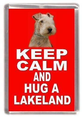 "Lakeland Terrier Dog Fridge Magnet ""KEEP CALM AND HUG A LAKELAND"" by Starprint"