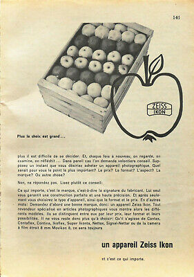 Publicité papier Photo Zeiss Ikon Juillet 1958 P1015863