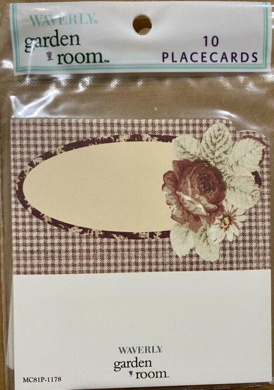 Vintage Sealed Waverly Garden Room Rose Place Cards Set Of 10