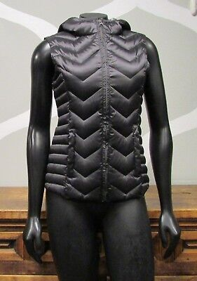 BLANC NOIR Charcoal Shimmer Gray Black Athletic Puffer Down Feather Vest - XS](blanc noir puffer vest)
