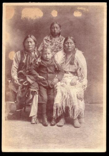c.1895 RED BIRD & HIS BEAUTIFUL KIOWA FAMILY ~ PLAINS INDIANS OF OKLAHOMA