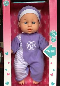 BABY SOPHIE COOCHIE TALKING DOLL DOLLY 20 SOUNDS GIRLS TOY PINK SOFT 1ST GIFT