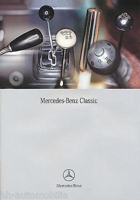 Mercedes Classic Prospekt 4/02 brochure 2002 Auto PKWs Deutschland Verkehr