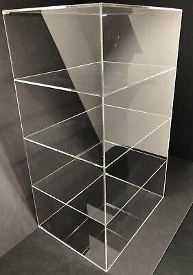 Acrylic Cabinet Counter Top Display Showcase Box 8x 8x 19 Display Box