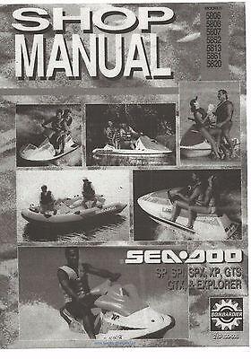 Sea-Doo service shop manual 1993 SeaDoo SP, SPX, SPI, XP, GTS, GTX & Explorer