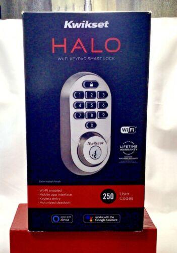 Kwikset 99380-001 Halo Wi-Fi Smart Electronic Keypad Deadbolt *Factory Sealed*