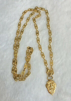 Vintage Gucci Gold Toned GG Chain Necklace