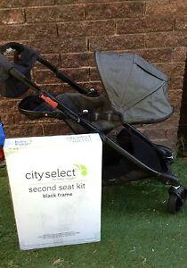 Charcoal-Denim Baby Jogger City Select+Extras Excellent Condition Frankston Frankston Area Preview