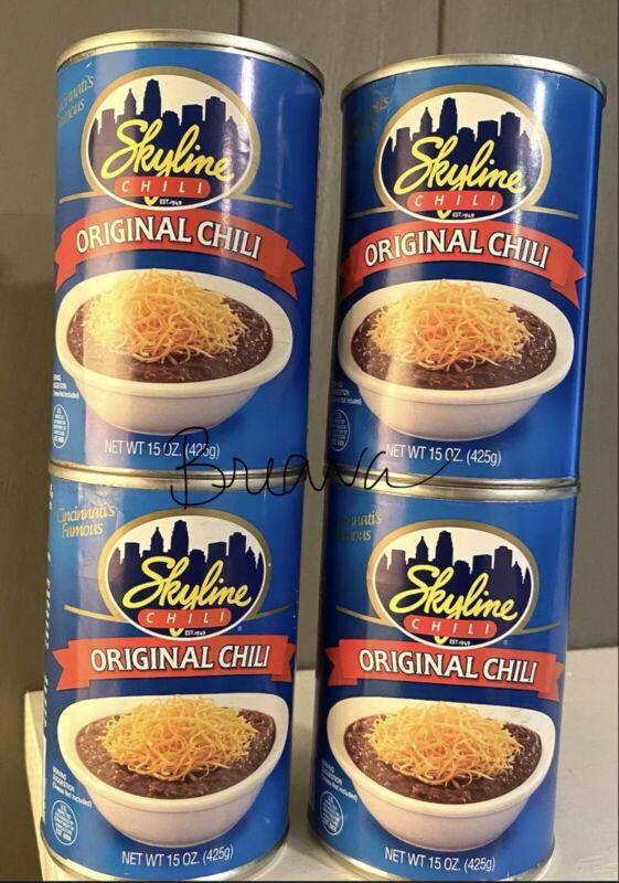 SKYLINE CHILI 15oz4pack - FOUR 15oz CANS 04/08/24 exp Cincinnati Chili FREE SHP
