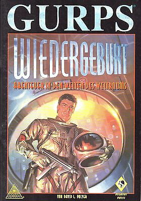 GURPS-WIEDERGEBURT-Abenteuer in den Welten des Weltraums-Rollenspiel-RPG-rare