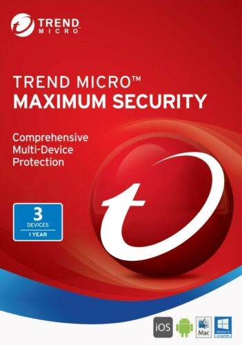 Trend Micro Maximum Security 2021 1 Year for 3 Devices Digital License Key