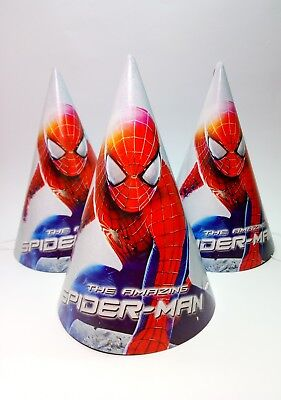 Spiderman Birthday Hat (Spiderman Party Birthday Hats Party Caps Set of 10 Party hats Spider-Man)