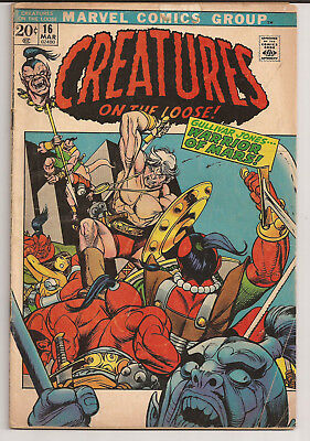 Creatures on the Loose 16 (1971) Origin Warrior of Mars G/VG