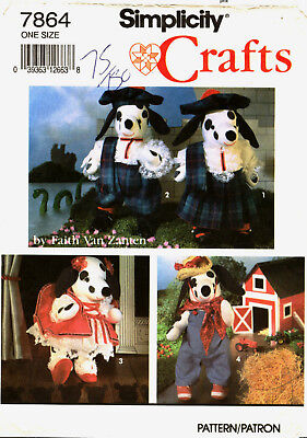 Simplicity7864 Stuffed Dalmation Dog & Clothes Sewing Pattern